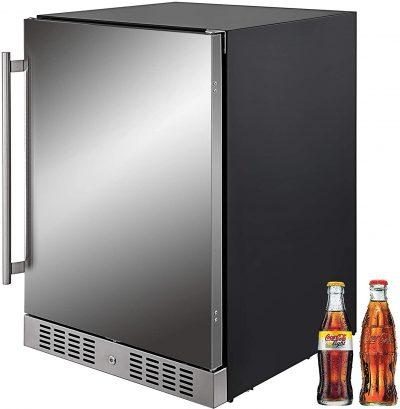 VBENLEM 24'' Built-in Stainless Steel Refrigerator