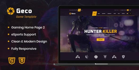 Geco - eSports Gaming WordPress Theme