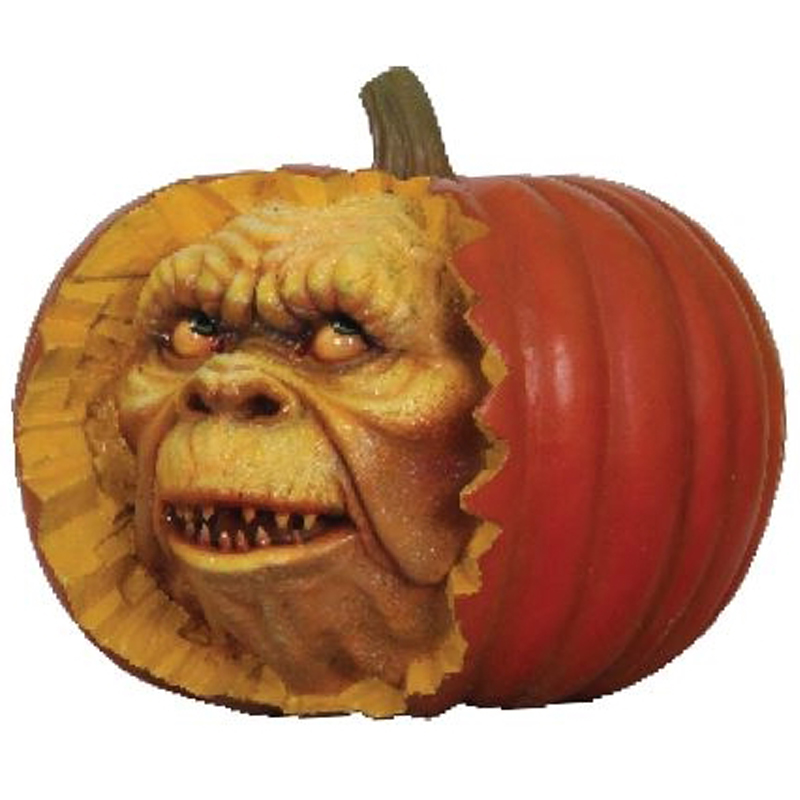 whole pumpkin with face