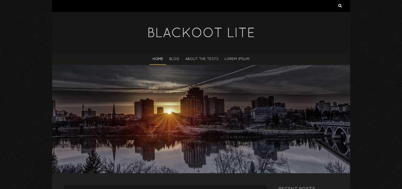 Blackoot Lite - Simple Powerful Free WordPress Theme