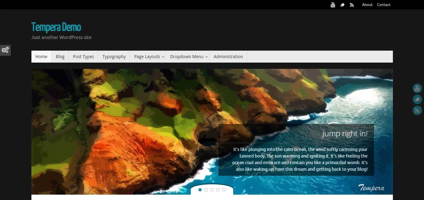 Tempera - best free WordPress themes