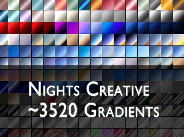500 High Quality Free Photoshop Metal Gradients ThemeCot