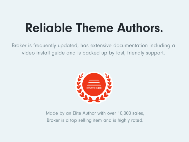 Reliable Elite Theme Authors with over 10,000 sales
