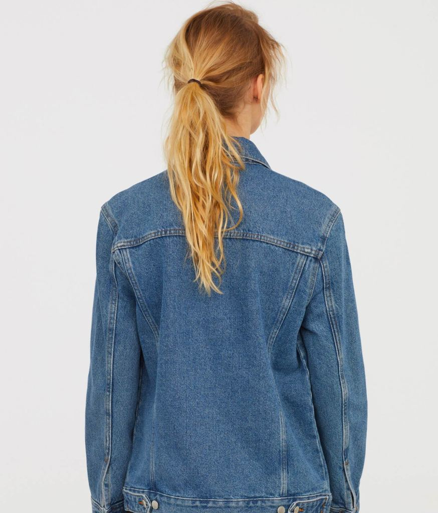 Denim jacket back