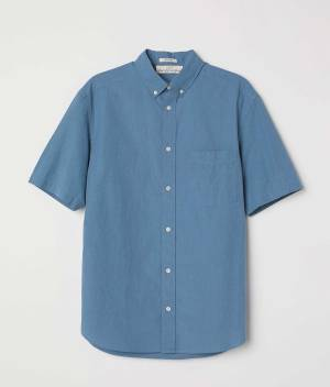 Poplin shirt Regular fit simple