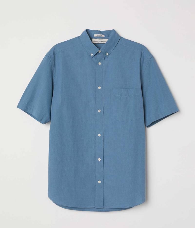 Poplin shirt Regular fit simple