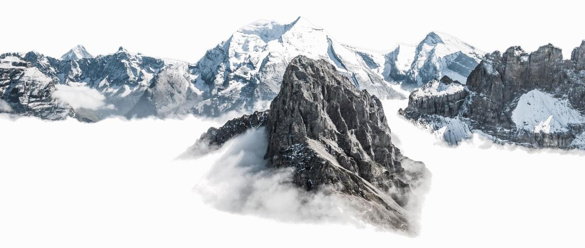 Decorative mountain separator