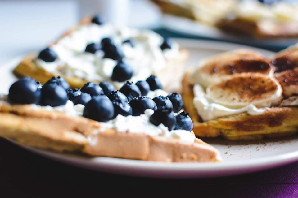 foodiesfeed.com_homemade-waffles-blueberries-banana
