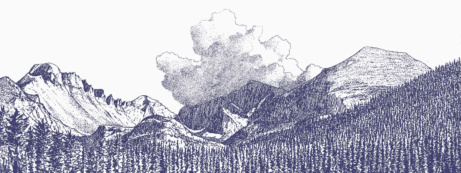 Mountains illustration