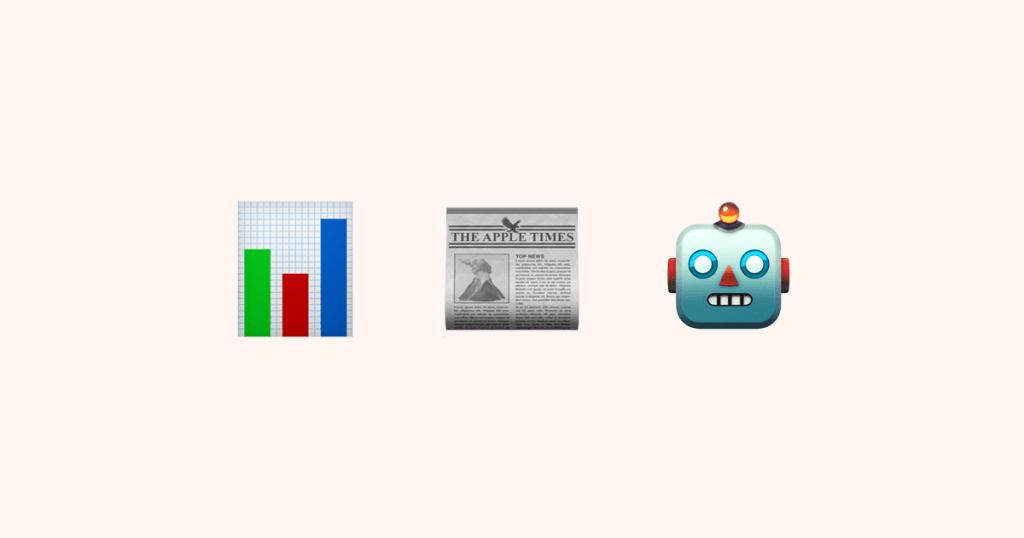Алгоритмическая журналистика в эмодзи