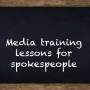 media training lessons for spokespeople