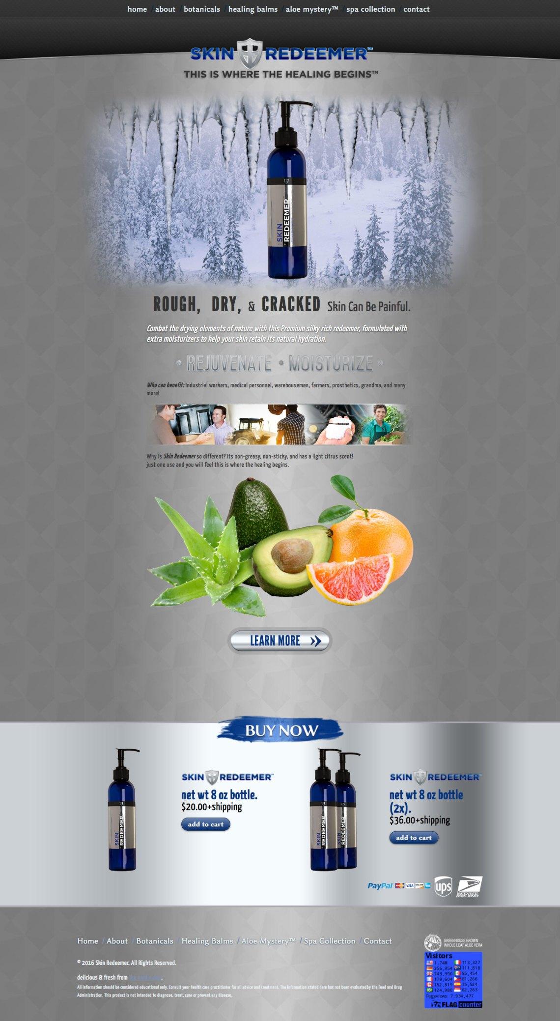 Skin Redeemer Website