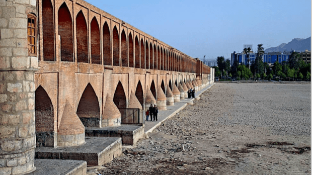 Zayandeh rood dry bed