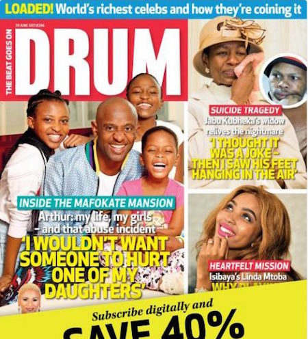 DRUM magazine: We erred with Arthur cover and story