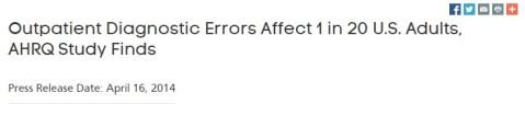 Outpatient Diagnostic Errors