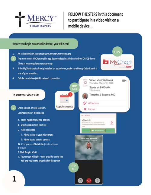 Mercy How To Use Telemedicine Flyer