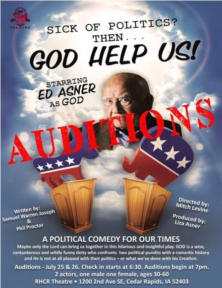God Help Us Theatre Poster