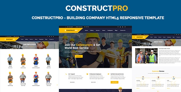 ConstructPro - Building Company HTML5 Responsive Template