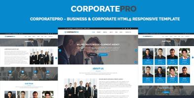 CorporatePro - Business & Corporate HTML5 Responsive Template