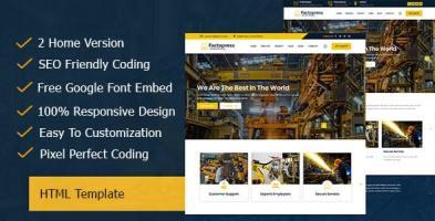 Factopress - Factory & Industrial Business Responsive Template