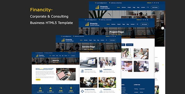 Financity - Corporate & Consulting Business Template Financity - Corporate & Consulting Business Template