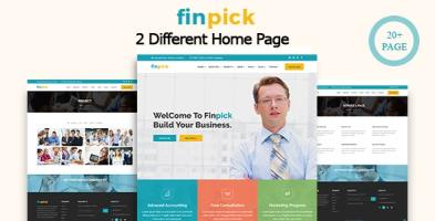 Finpick – Finance Business HTML Template