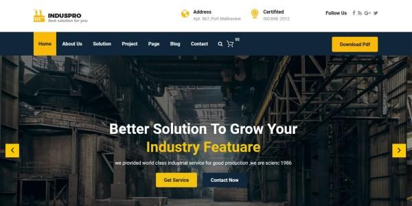 Induspro - ndustrial Factorial Template