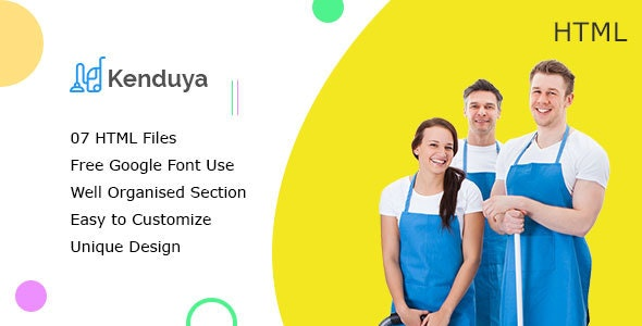Kenduya || Cleaning Company Business HTML5 Template