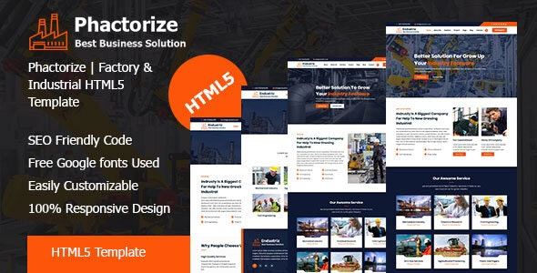 Phactorize - Factory & Industrial HTML5 Template