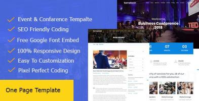 Somabesh || One Page Event and Conference HTML5 Template