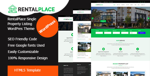 RentalPlace - Single Property & Rental Home WordPress Theme