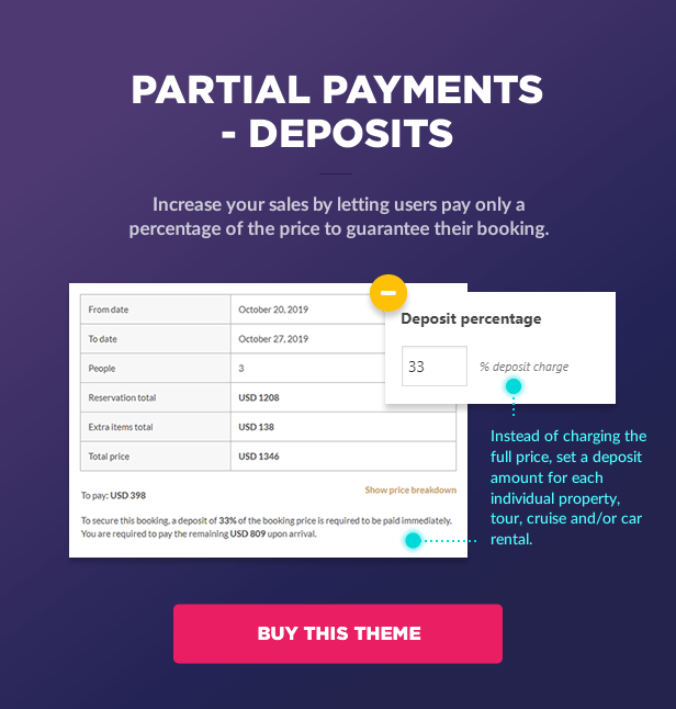 Partial payments - Deposits