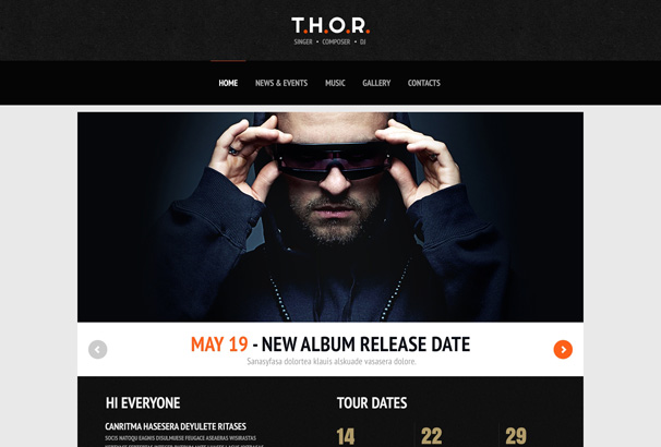 Record Label Website Templates. 50 fresh free html5 and css3 ...