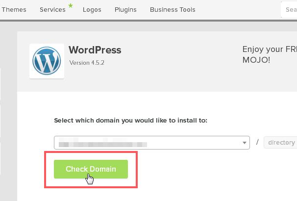 Click Check Domain