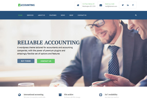 50+ Best Accountant WordPress Themes 2017