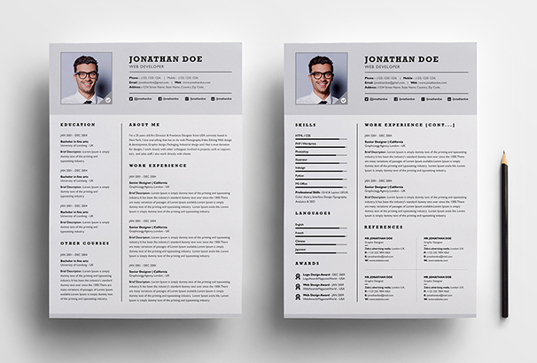 Exceptional Okay To Have 2 Page Resume. 50 Cv Resume Cover Letter Templates