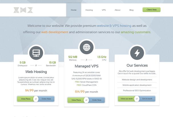 30 html web hosting website templates 2017