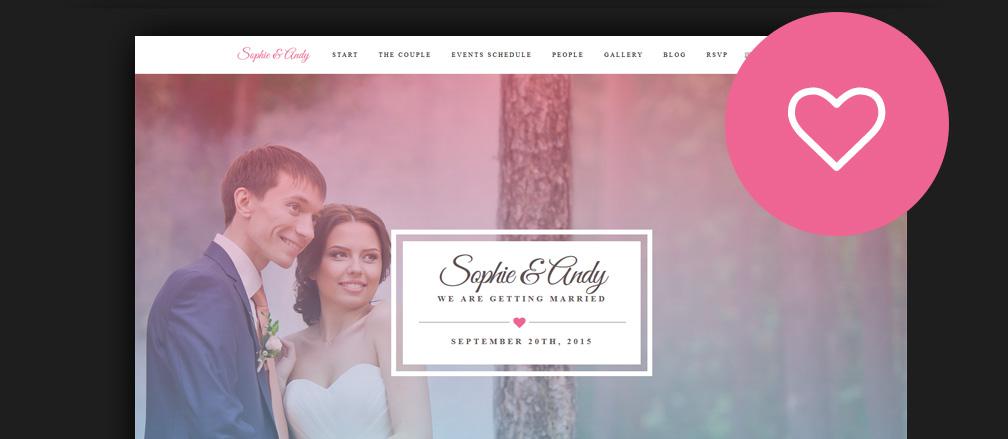 60 Best HTML Wedding Website Templates 2017