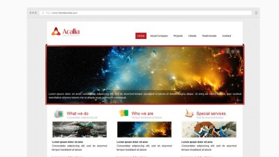 Acalia Website Template