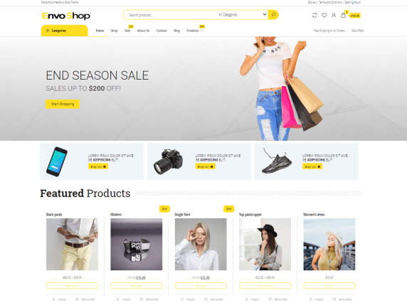 Envo Shop- Best free eCommerce WordPress theme for online store
