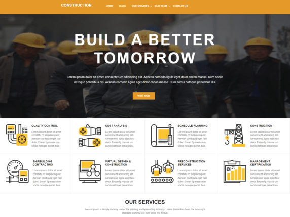 Constrcution Sites- free WordPress themes for construction and architecture