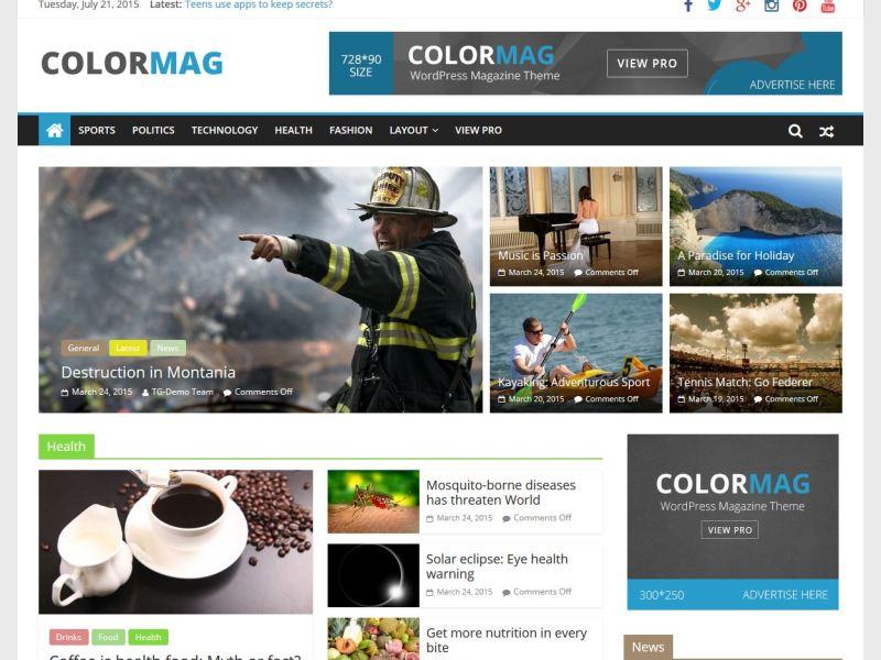 Magazine style theme for tech blogs