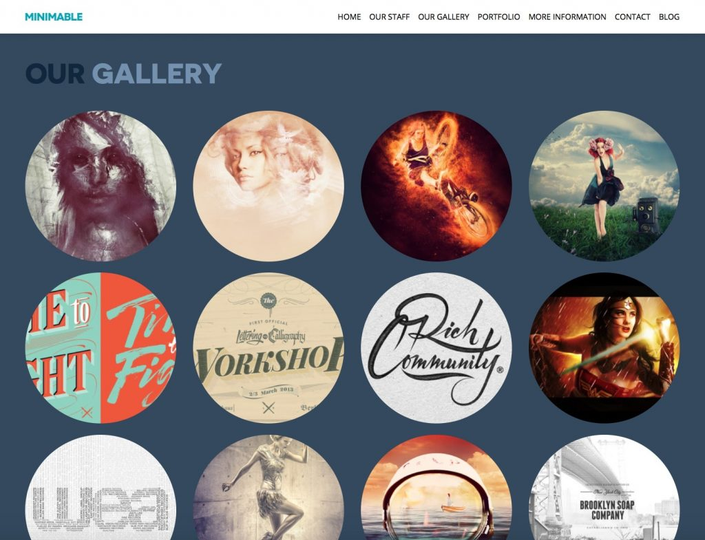 minimable - free one page wordpress themes collection