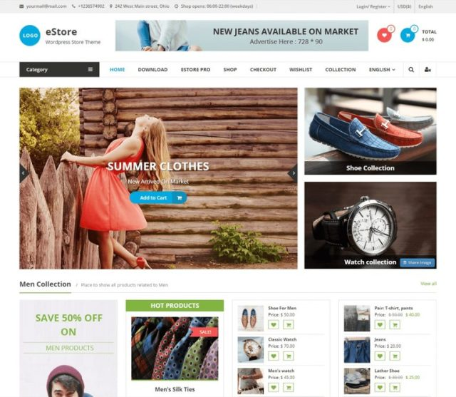 eStore  WordPress Themes