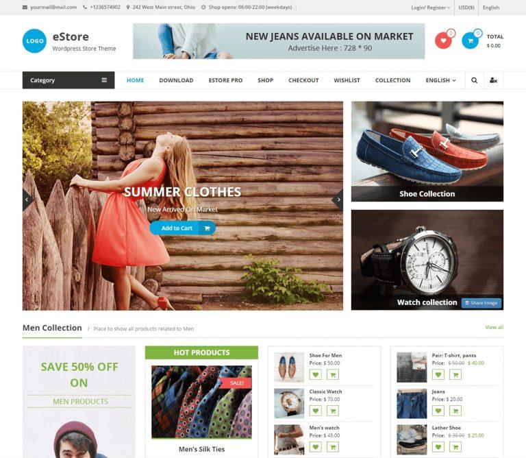 eStore  WordPress Themes