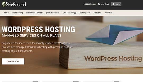 Siteground wordpress hébergement géré
