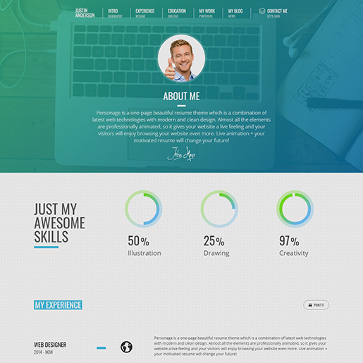 15+ Best WordPress Resume themes for Professional resumes and CVs 10