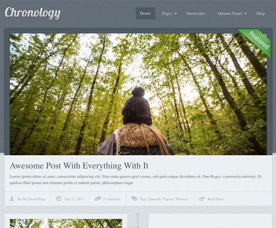 MyThemeShop Chronology WordPress Theme