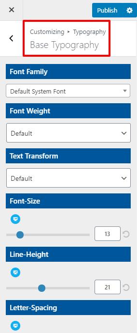 base typography open shop pro
