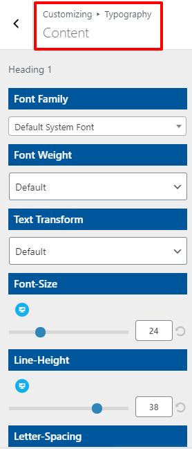 content typography open shop pro